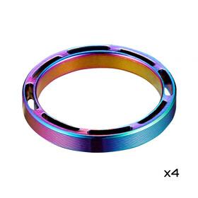 """Supacaz Hollow SupaSpacer Set 4 Pieces 5mm 1 1/8"""", oil slick"""